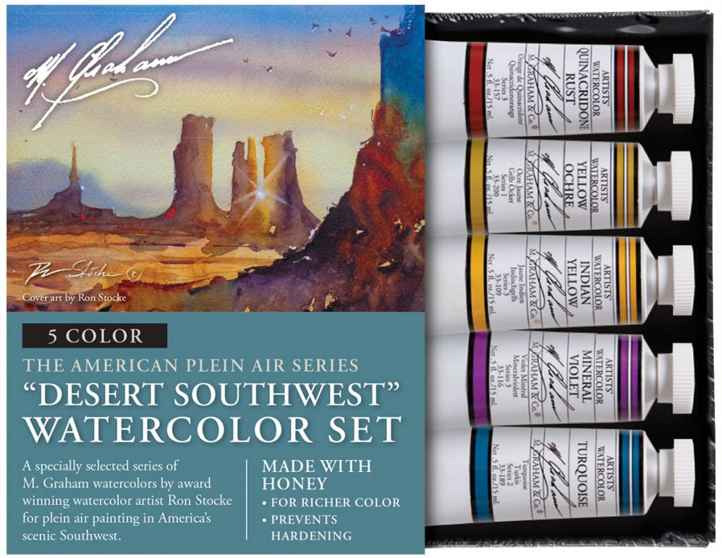 M GRAHAM M GRAHAM WATERCOLOUR SET/5 DESERT SOUTHWEST