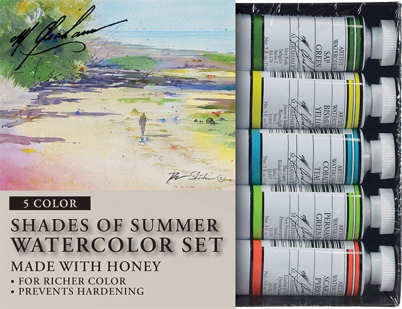 M GRAHAM M GRAHAM WATERCOLOUR SET/5 SHADES OF SUMMER