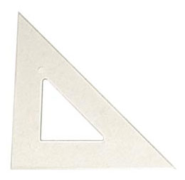 TRIANGLE 45/90 12'' CLEAR
