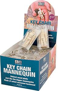 MANNEQUIN KEY CHAIN 2.5''