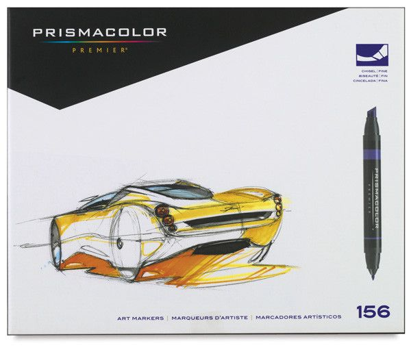 SANFORD PRISMACOLOR MARKER SET/156 ASSORTED COLOURS