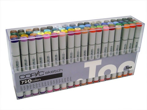 Copic COPIC SKETCH SET/72  A COLOURS