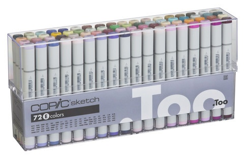 Copic COPIC SKETCH SET/72  E COLOURS
