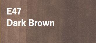 Copic COPIC SKETCH E47 DARK BROWN
