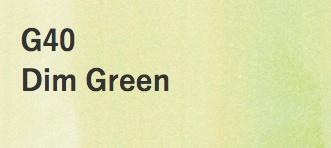 Copic COPIC SKETCH G40 DIM GREEN
