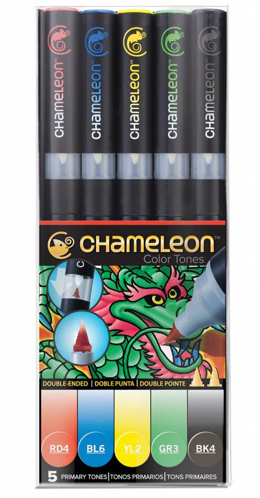 CHAMELEON CHAMELEON COLOUR TONES MARKERS PRIMARY SET/5