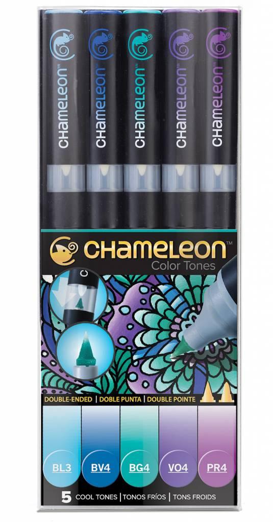 CHAMELEON CHAMELEON COLOUR TONES MARKERS COOL SET/5