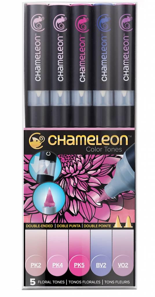 CHAMELEON CHAMELEON COLOUR TONES MARKERS FLORAL SET/5