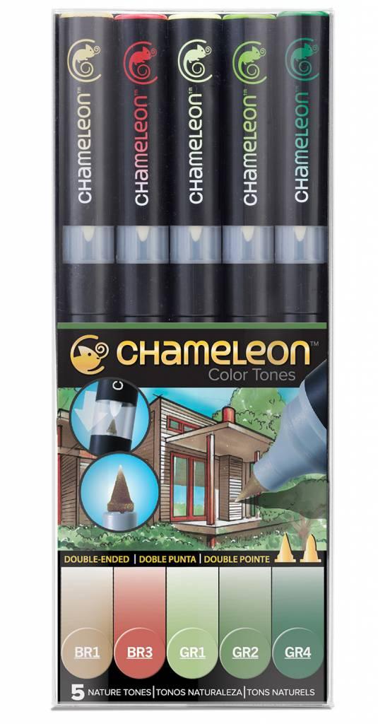CHAMELEON CHAMELEON COLOUR TONES MARKERS NATURE SET/5