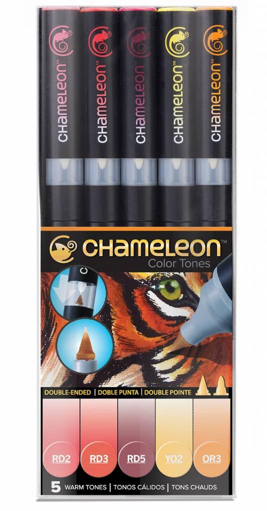 CHAMELEON CHAMELEON COLOUR TONES MARKERS WARM SET/5