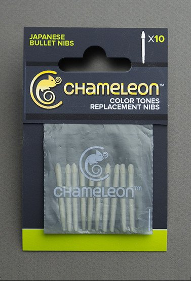 CHAMELEON CHAMELEON COLOUR TONES REPLACEMENT BULLET NIBS 10/PK