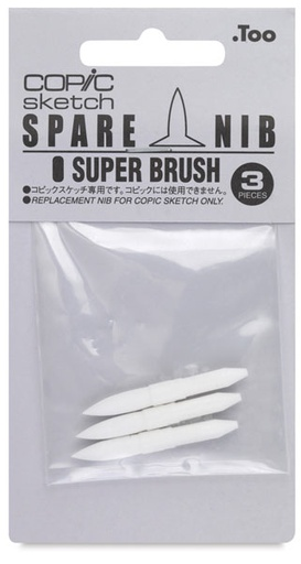 Copic COPIC SKETCH MARKER SPARE NIB SUPER BRUSH 3/PK