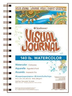 STRATHMORE STRATHMORE VISUAL JOURNAL WATERCOLOUR 140LB CP 9X12    460-59
