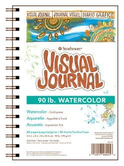 STRATHMORE STRATHMORE VISUAL JOURNAL WATERCOLOUR 90LB CP 5.5X8    460-45