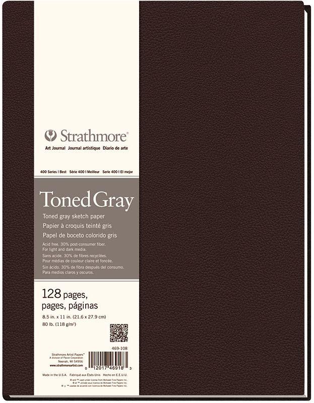 STRATHMORE STRATHMORE ART JOURNAL TONED GRAY HARDBOUND 8.5X11  80LB    STR-469-108