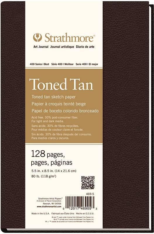 STRATHMORE STARTHMORE ART JOURNAL TONED TAN HARDBOUND 5.5X8.5    STR-469-5