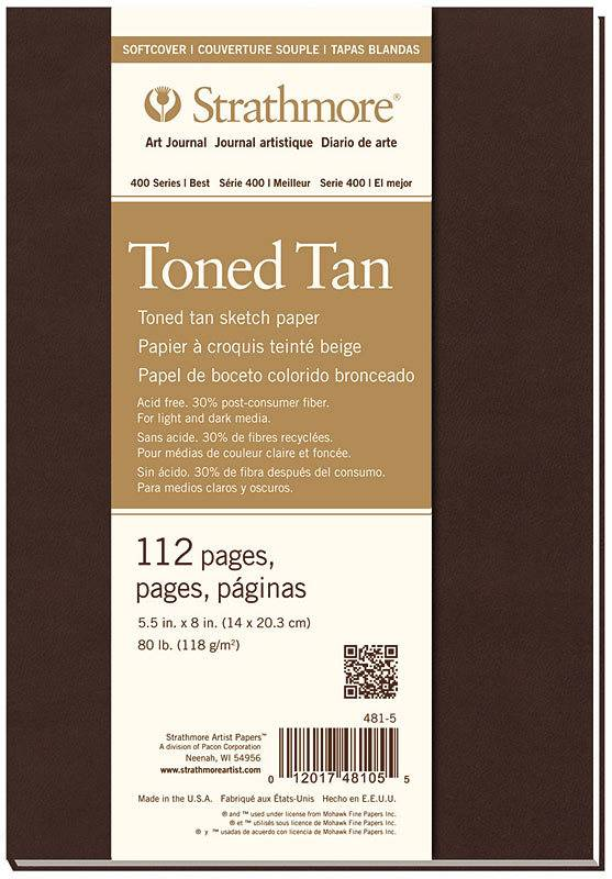 STRATHMORE STRATHMORE TONED TAN SKETCH PAPER PAD SOFT COVER 5.5X8