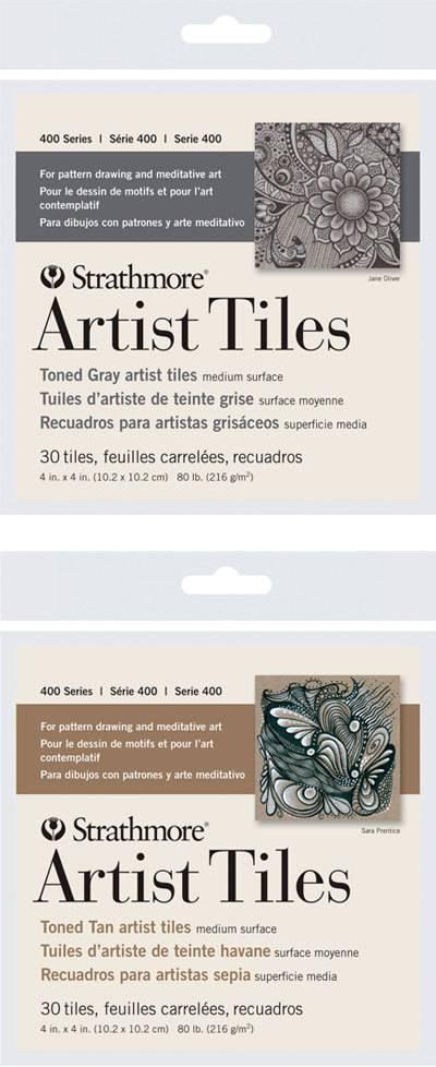 STRATHMORE STRATHMORE ARTIST TILES SERIES 400 TONED GRAY 4X4 30 TILES
