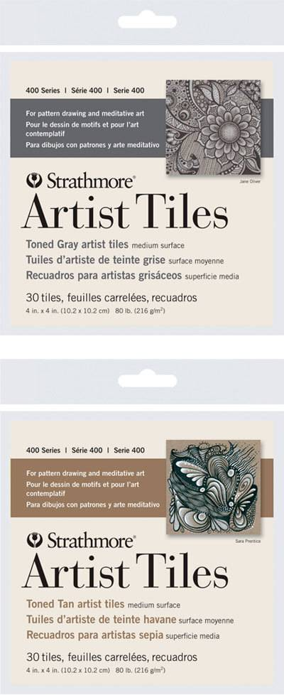 STRATHMORE STRATHMORE ARTIST TILES SERIES 400 TONED TAN 4X4 30 TILES
