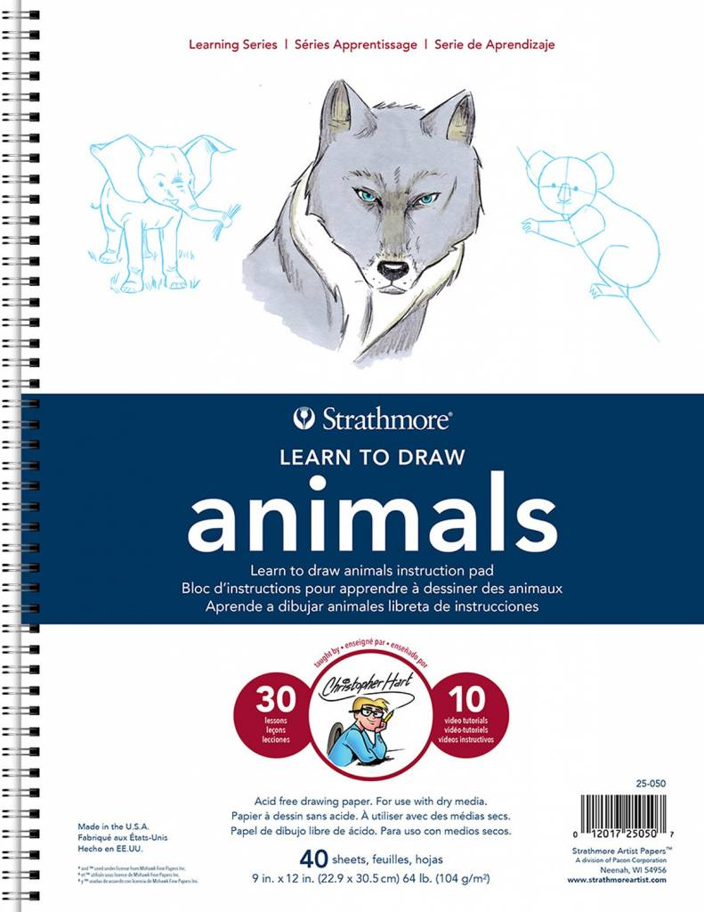 STRATHMORE STRATHMORE LEARNING SERIES LEARN TO DRAW ANIMALS 9X12 COIL BOUND
