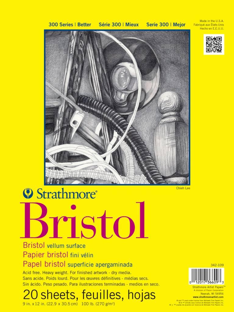 STRATHMORE STRATHMORE 300 BRISTOL VELLUM 9X12    STR-342-109