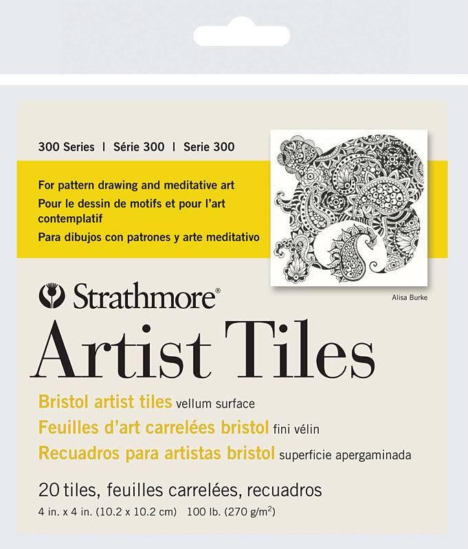 STRATHMORE STRATHMORE ARTIST TILES SERIES 300 BRISTOL 4X4 20 TILES