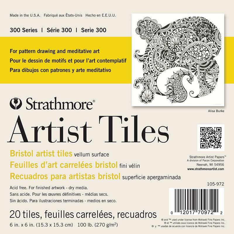 STRATHMORE STRATHMORE ARTIST TILES SERIES 300 BRISTOL 6X6 20 TILES