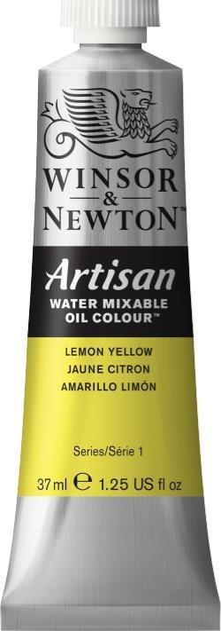 WINSOR NEWTON ARTISAN WATER MIXABLE OIL COLOUR LEMON YELLOW 37ml