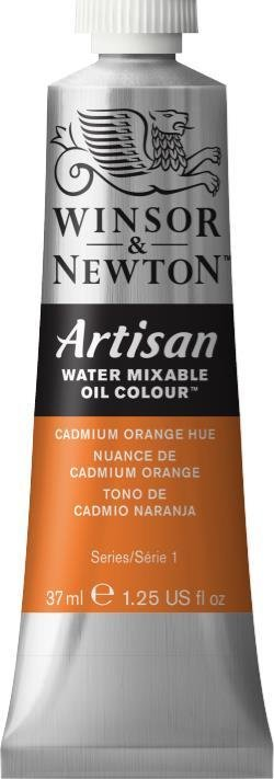 WINSOR NEWTON ARTISAN WATER MIXABLE OIL COLOUR CADMIUM ORANGE HUE 37ML