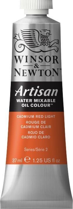 WINSOR NEWTON ARTISAN WATER MIXABLE OIL COLOUR CADMIUM RED LIGHT 37ML