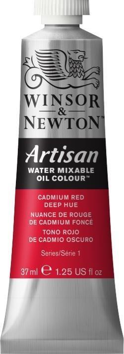 WINSOR NEWTON ARTISAN WATER MIXABLE OIL COLOUR CADMIUM RED DEEP HUE 37ML