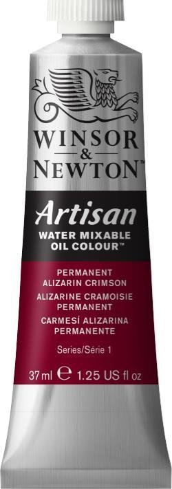 WINSOR NEWTON ARTISAN WATER MIXABLE OIL COLOUR PERMANENT ALIZARIN CRIMSON 37ML