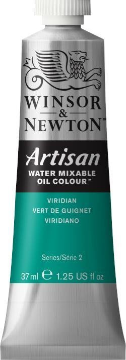 WINSOR NEWTON ARTISAN WATER MIXABLE OIL COLOUR VIRIDIAN 37ML