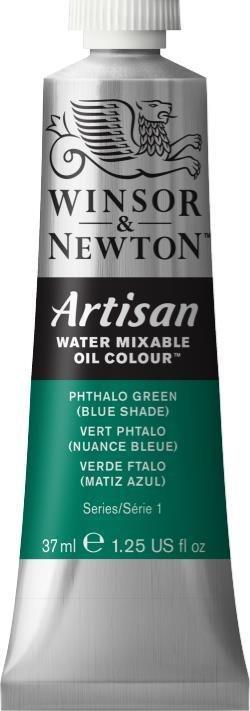 WINSOR NEWTON ARTISAN WATER MIXABLE OIL COLOUR PHTHALO GREEN  BLUE SHADE  37ML