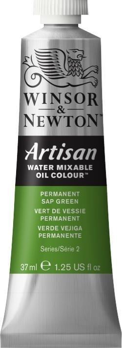 WINSOR NEWTON ARTISAN WATER MIXABLE OIL COLOUR PERMANENT SAP GREEN 37ML