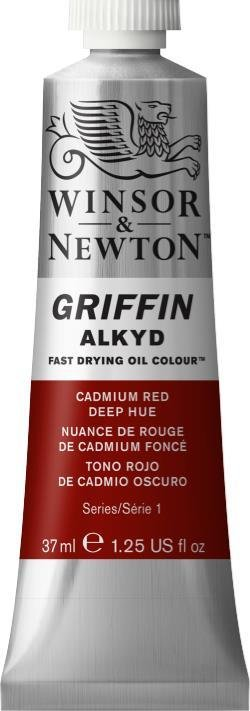 WINSOR NEWTON GRIFFIN ALKYD OIL COLOUR CADMIUM RED DEEP 37ML