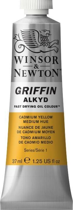WINSOR NEWTON GRIFFIN ALKYD OIL COLOUR CADMIUM YELLOW 37ML