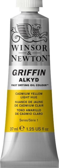 WINSOR NEWTON GRIFFIN ALKYD OIL COLOUR CADMIUM YELLOW LIGHT 37ML