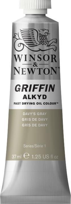 WINSOR NEWTON GRIFFIN ALKYD OIL COLOUR DAVYS GRAY 37ML