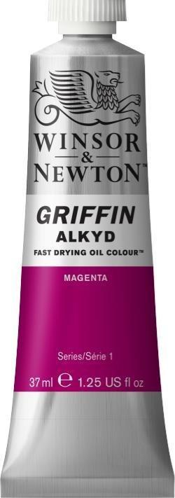 WINSOR NEWTON GRIFFIN ALKYD OIL COLOUR MAGENTA 37ML