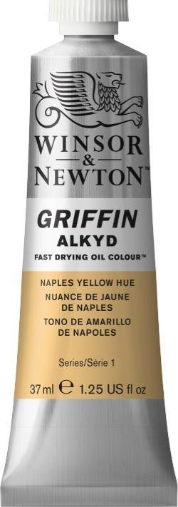 WINSOR NEWTON GRIFFIN ALKYD OIL COLOUR NAPLES YELLOW HUE 37ML