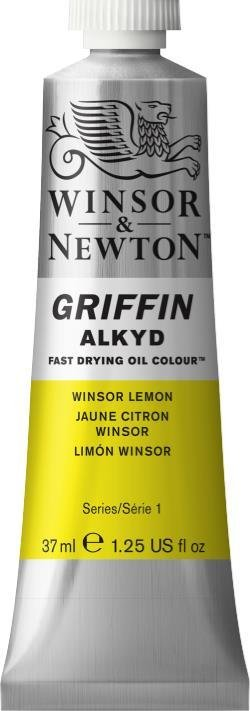 WINSOR NEWTON GRIFFIN ALKYD OIL COLOUR WINSOR LEMON 37ML