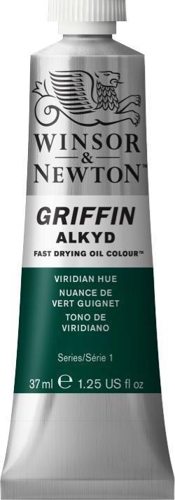 WINSOR NEWTON GRIFFIN ALKYD OIL COLOUR VIRIDIAN 37ML