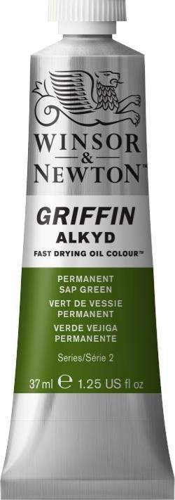 WINSOR NEWTON GRIFFIN ALKYD OIL COLOUR PERMANENT SAP GREEN 37ML