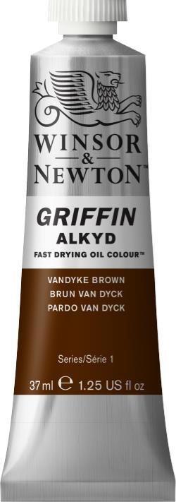 WINSOR NEWTON GRIFFIN ALKYD OIL COLOUR VANDYKE BROWN 37ML