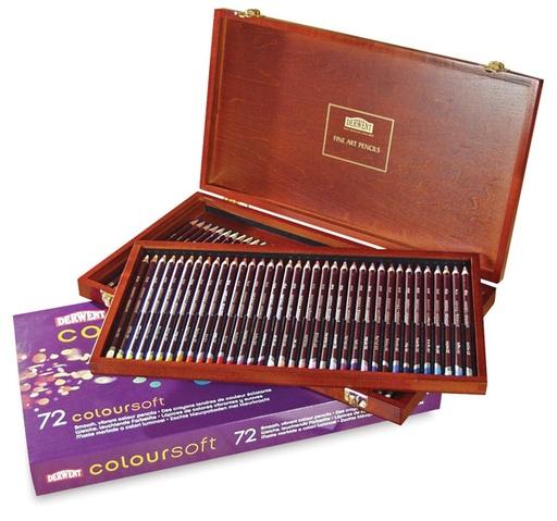 Derwent Derwent Coloursoft Pencil Wooden Box Set72
