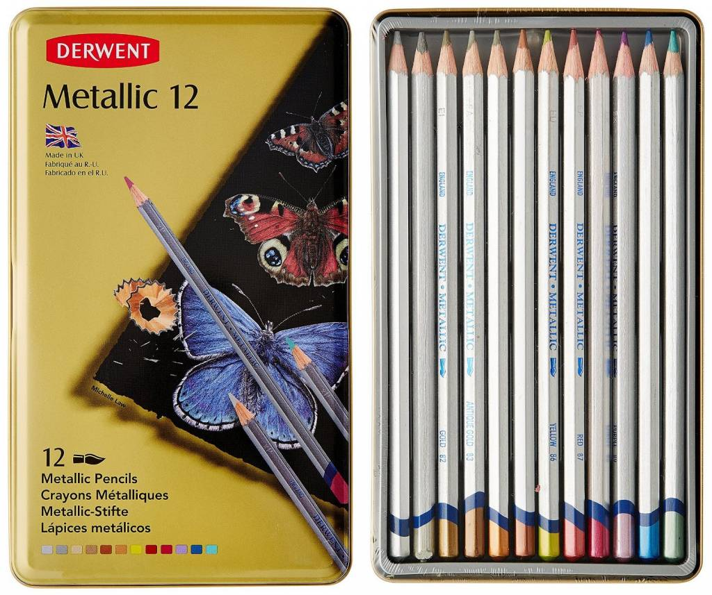 DERWENT DERWENT METALLIC PENCIL 12/SET