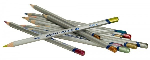 DERWENT DERWENT METALLIC WATERCOLOUR PENCIL YELLOW