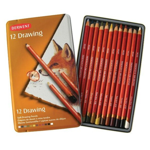 DERWENT DERWENT DRAWING PENCILS SET/12