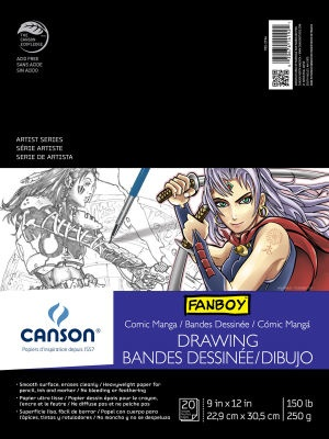 CANSON CANSON COMIC/MANGA ILLUSTRATION PAD 9X12 150LB 20/SHT